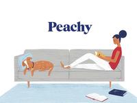 Peachy Branding brand identity design rebranding insurance peachy brand design brand identity logotype logo illustration identity logo design branding focus lab