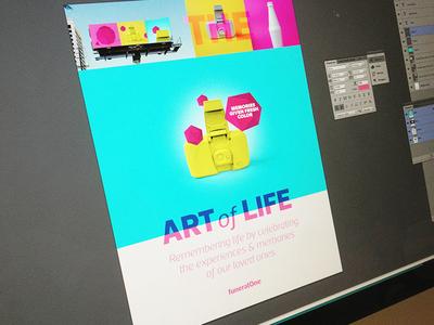 Art of Life branding focus lab memories life color logo design shapes simple