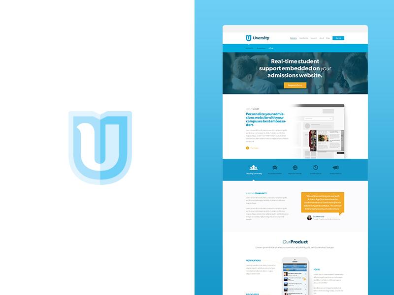 Uversity Brand + Web branding focus lab web design u logo logo design school education simple mark