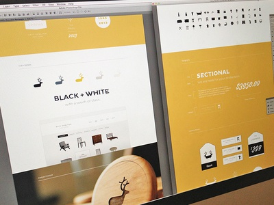 Web Portfolio branding focus lab portfolio logo logo design duuur brooklyn furniture wood