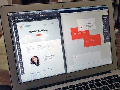 Cardinal Financial logo design focus lab branding web design cardinal logo banking financial website