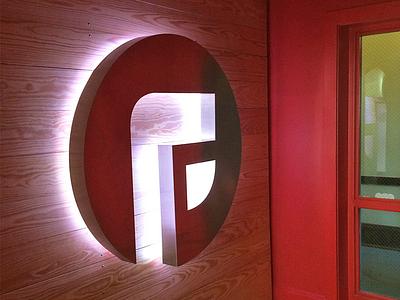 Logo Illuminated 4ft branding f logo focus lab aluminium sign led lighting