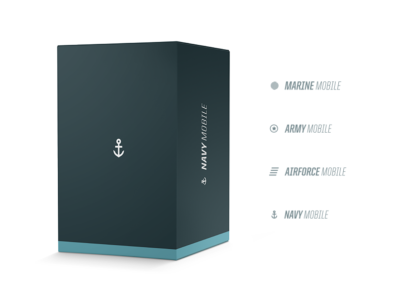 Navy Mobile focus lab flat color branding navy mobile cellular technology identity logo logo design packaging