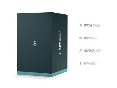 Navy Mobile focus lab flat color branding navy mobile cellular technology identity logo logo design packaging