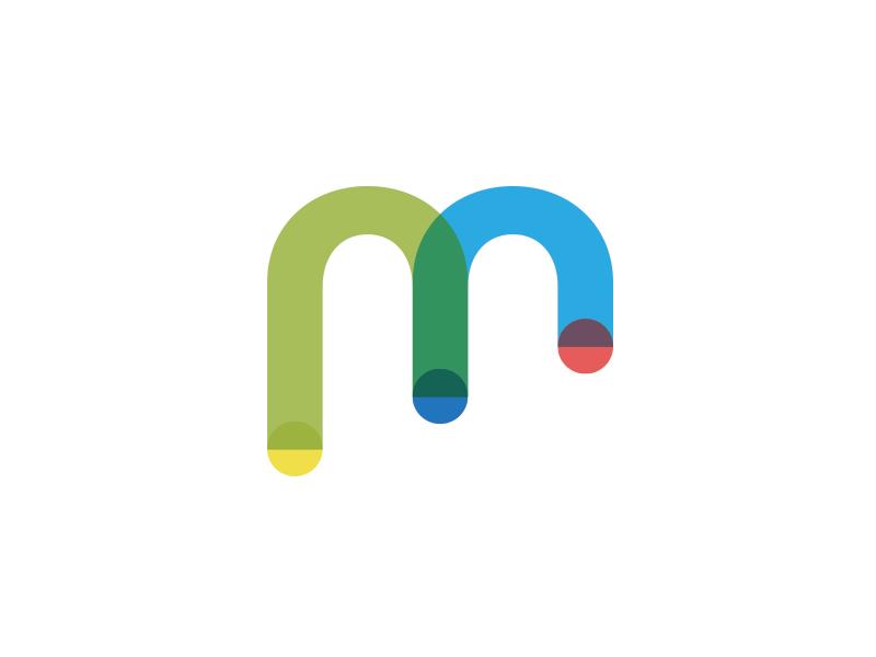 Branding Mark branding identity incubator technology m