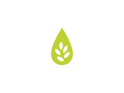 Oil + Leaves branding logo logo mark logo design oil garden leaves