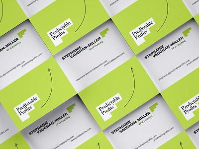 Predictable Profits Business Card – Rebrand business cards design print design business cards brand identity identity logo design logo branding focus lab