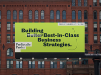 Predictable Profits Billboard – Rebrand visual identity brand identity design brand identity billboard design billboard logotype identity logo design logo branding focus lab