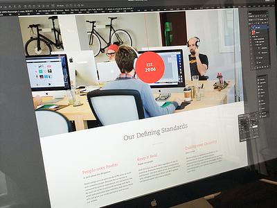 Our Story focus lab website web design responsive team culture story