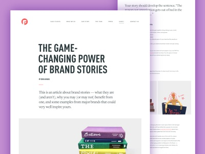 The Game Changing Power Of Brand Stories brand identity design brand stories blog communication agency brand agency communications verbal identity brand story identity branding focus lab