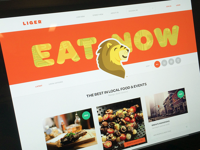 Liger Activity branding focus lab liger eat food