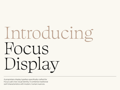 Focus Display font awesome display font type design typeface branding focus lab
