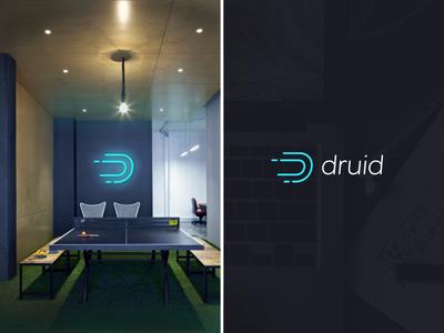 Druid Branding focus lab branding logo design logo mark speed data movement identity