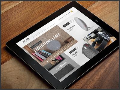 HiDef Lifestyle focus lab web design ui hidef technology clean music speakers ipad responsive