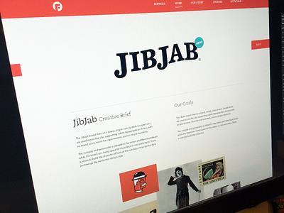Jibjab Refresh branding focus lab portfolio projects web design