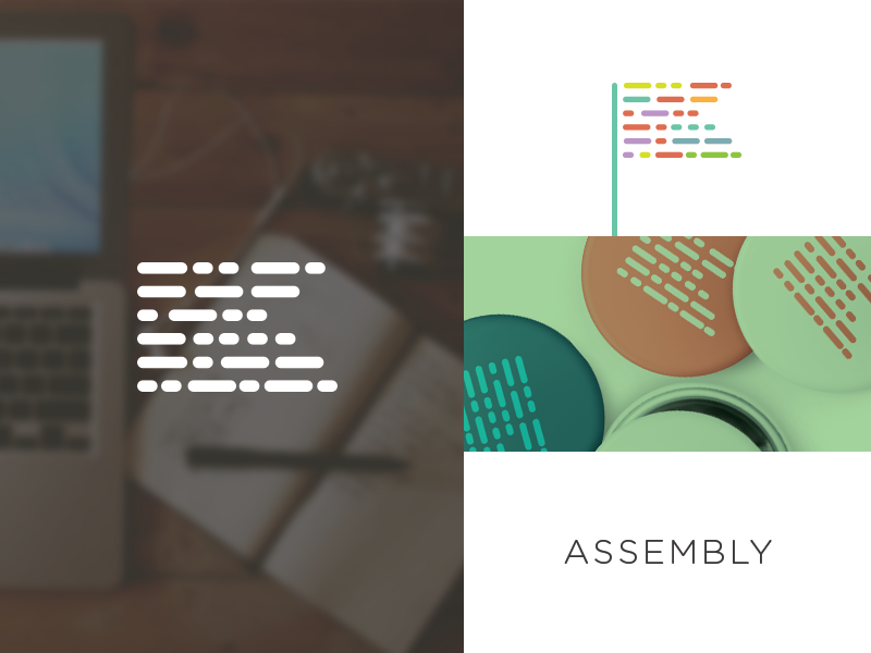 Assembly branding focus lab identity assembly diversity come together symbols morse code