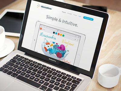 Educreations App branding focus lab educreations students teaching ui design identity sharing learning