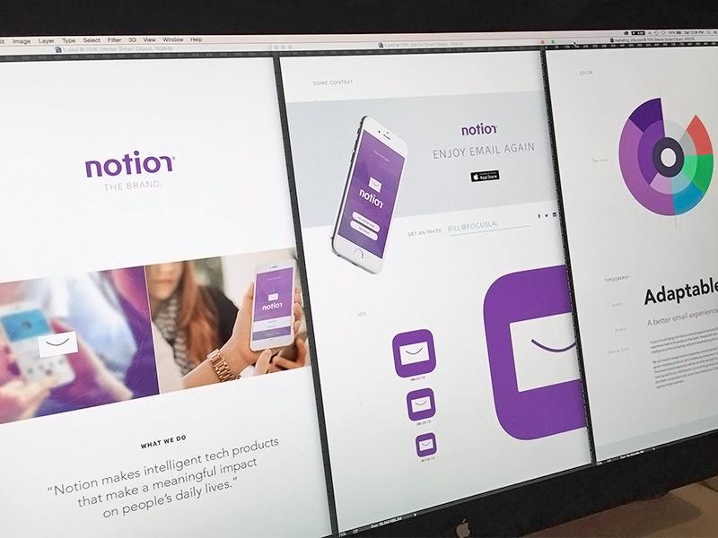 Notion Branding notion branding focus lab identity app icon smile envelope simple