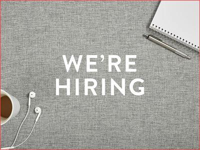 We're Hiring focus lab hiring team culture brand designer ui designer developer