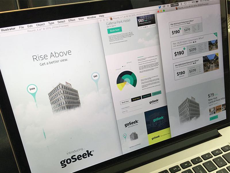 goSeek Branding - Rise Above color wheel deals shop explore travel fresh rise above simple identity focus lab branding