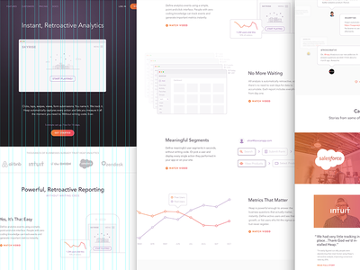 Heap Analytics stats data graphs marketing website heap analytics illustration web design focus lab