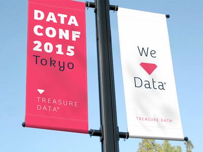 Treasure Data Branding love treaure design logo banners data clean diamond treasure data identity focus lab branding