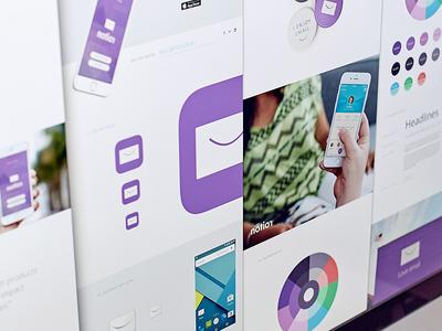 Branding Showcase Template brand guide color palette mockup scroller layout identity branding design assets sidecar