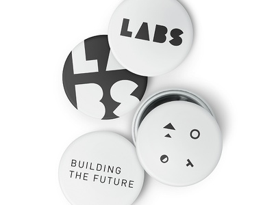 LABS - Black & White shapes logotype build labs logo design identity focus lab branding