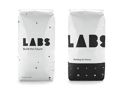 LABS - Caffeinated  shapes logotype build labs logo design identity focus lab branding