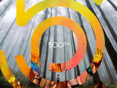 The New 500px 500px logotype identity logo design logo focus lab branding