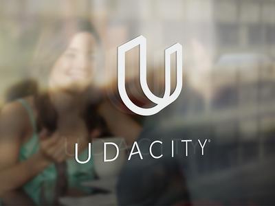 Udacity Window perspective u logotype rebrand learning clean simple udacity identity focus lab branding