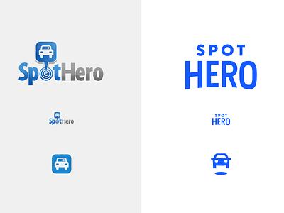 New Look parking hero spot car mark logo identity branding