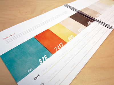 Style Guide Color Palette style guide branding color palette book texture guidelines color logo design identity focus lab print