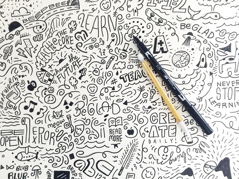 Doodles for Days sketching doodles identity focus lab branding