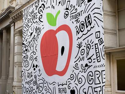 BeGLAD Branding Process students education brand design identity design teach doodle logo design identity branding