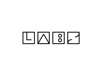 LABS shapes logotype build labs logo design identity focus lab branding