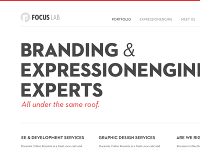 Home Page web design home page header loud branding expressionengine