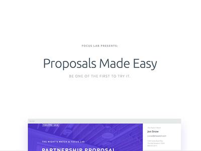 Create Better Proposals
