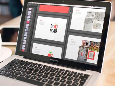 Be GLAD Style Guide  brand design brand presentation focus lab education logo design identity design identity branding style guide