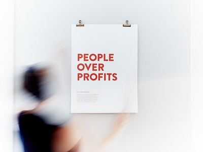 People Over Profits posters culture values focus lab standards