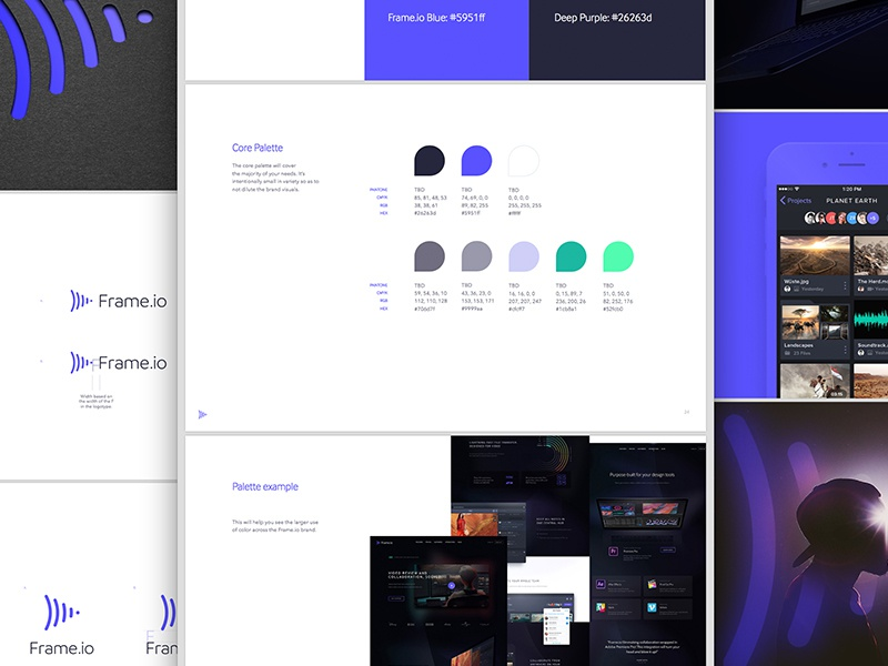 Frame Style Guide logo video collaboration collaboration f brand identity design brand design logo design identity design focus lab branding frame