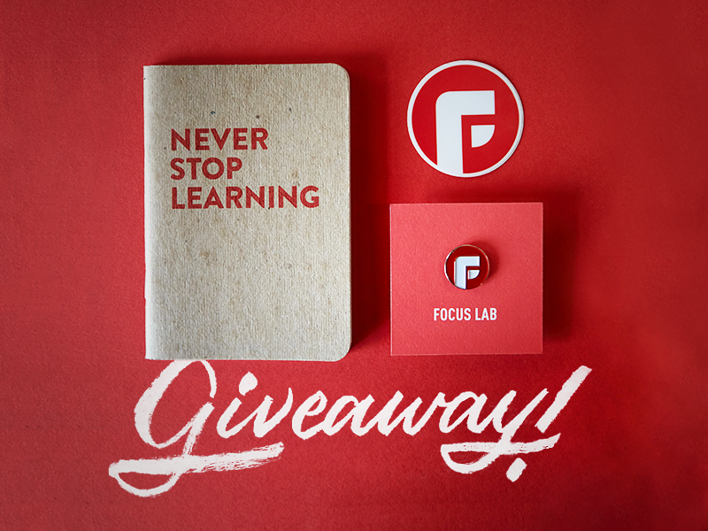 Focus Lab Insta Giveaway swag giveaway enamel pin focus lab instagram