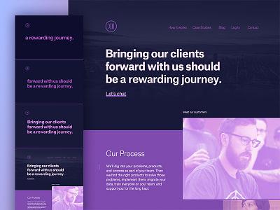 Website Jam Session simple clean purple home page marketing page ui website web design jam session collaboration focus lab