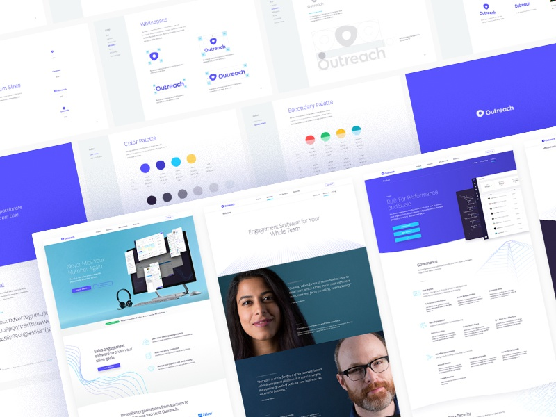 Outreach Case Study outreach web design identity design focus lab branding