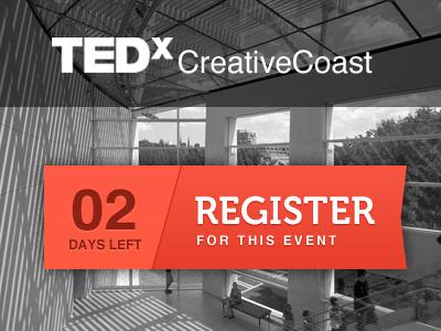 Tedx CreativeCoast makeover tedx creativecoast savannah conference minimal focus lab call to action button