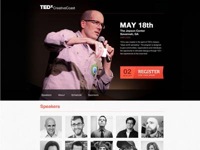 Tedx Scroller tedx creativecoast savannah conference minimal focus lab
