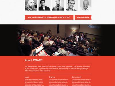 Tedx Scroller cont. tedx creativecoast savannah conference minimal