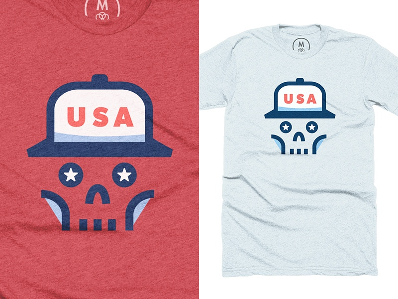 Team USA 🇺🇸 freedom merica america united states skeleton stars flat brim skull july usa
