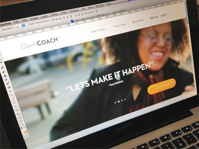 OpenCoach Homepage opencoach navigation web design interface landing page design ui design