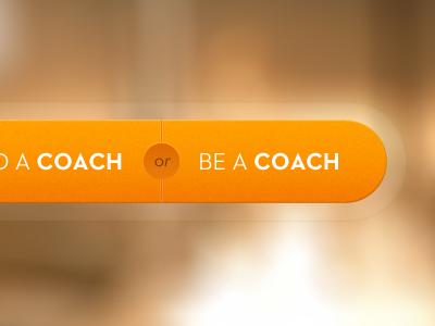 Coach Double Button branding opencoach navigation web design interface ui ux design ui design